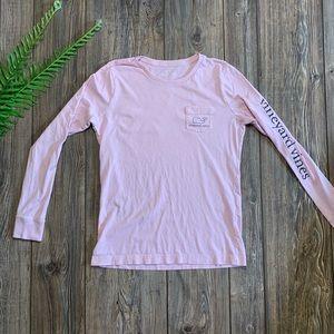 Women's Sm Vineyard Vines Pink Long sleeve shirt